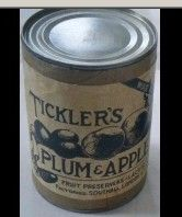 tin of plum and apple jam