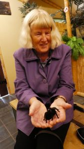 Jane with tarantula